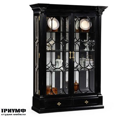 Американская мебель Jonathan Charles - Corinthian Column Black Display Cabinet