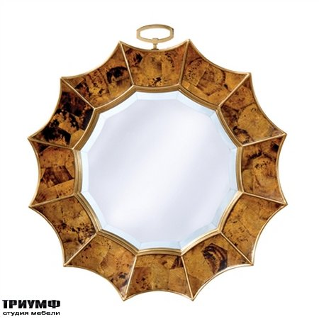 Американская мебель la Barge - Tiger Penshell Inlaid Mirror in Sunburst Motif
