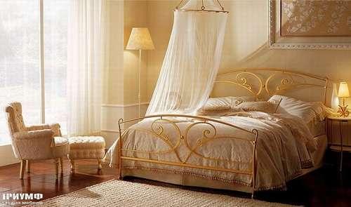 Итальянская мебель Giusti Portos - Кровать в золоте кованая  Calipso