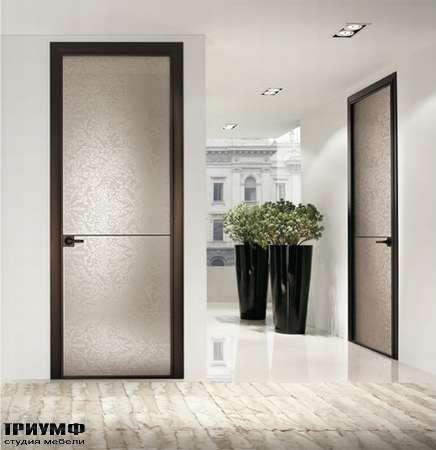 Итальянская мебель Longhi - Дверь Spark, стекло с разводами, рамка венге