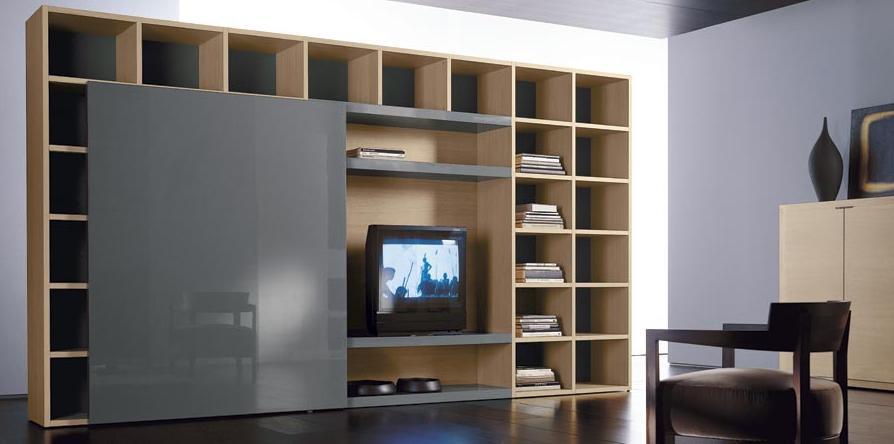 Итальянская мебель Olivieri - Стенка под ТВ со сдвижной дверью Surprise