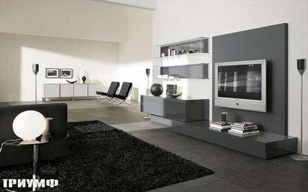 Итальянская мебель Presotto - стенка Oasi по ТВ