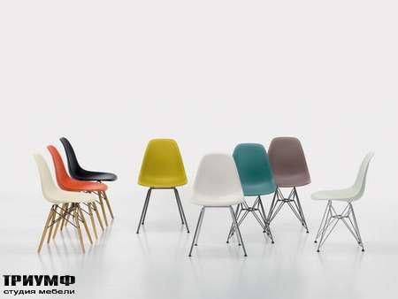 Швейцарская  мебель Vitra  - plastic side chairs
