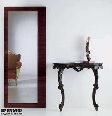 Итальянская мебель Moda by Mode - Консоль Re Mind Glam барочная в черном лаке