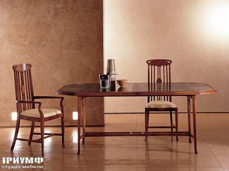 Итальянская мебель Medea - Стол Liberty раскладной со стеклом арт. 36, стул арт. 177