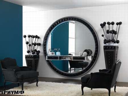 Итальянская мебель Vismara - зеркало stargate с полками