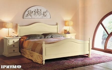 Итальянская мебель Tonin casa - кровать из массива дерева