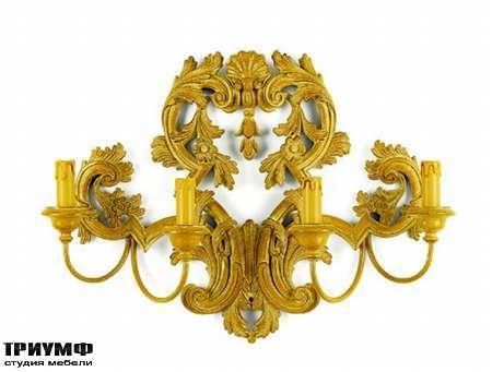 Итальянская мебель Chelini - Бра барочное на 4 рожка, арт. 1140