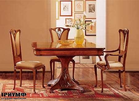 Итальянская мебель Medea - Стол квадратный арт. деко,  арт. 39