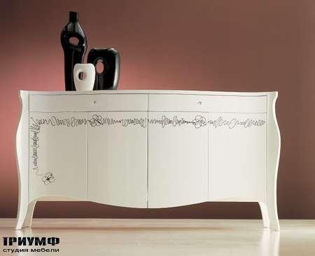 Итальянская мебель Moda by Mode - Комод с ящиками и распашными дверьцами Daisy с узорами