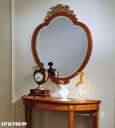 Итальянская мебель Colombo Mobili - Зеркало в стиле Бидермайер кол. Salieri