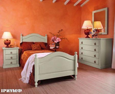 Итальянская мебель Tonin casa - кровать односпальная из дерева