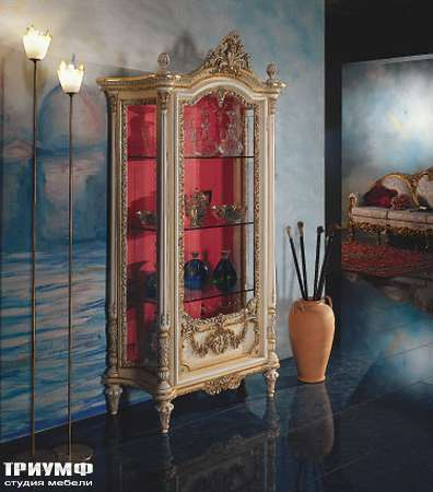 Итальянская мебель Silik - Витрина 1-дверная на ножках