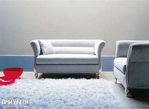 Итальянская мебель Medea - Диван арт-деко посеребренное дерево, ткань
