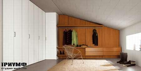 Итальянская мебель Pianca - Гардеробная Anteprima с вырезом под потолок