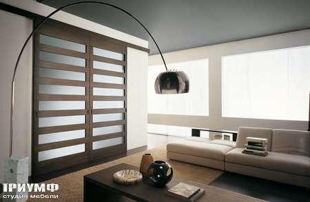 Итальянская мебель Longhi - Раздвижная перегородка с полосками Shadow