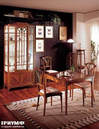 Итальянская мебель Medea - Гостиная арт-деко Liberty: витрина, стол, стулья