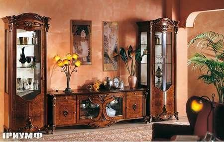 Итальянская мебель Grilli - Стенка из витрин и комодика