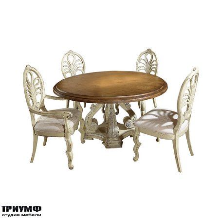 Американская мебель Habersham - Biltmore Round Valencia Dining Table