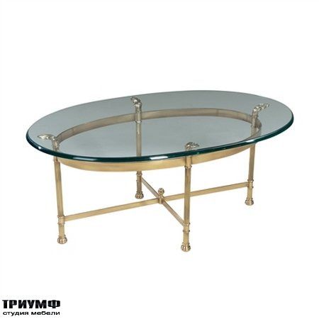 Американская мебель la Barge - Polished Solid Brass Oval Cocktail Table