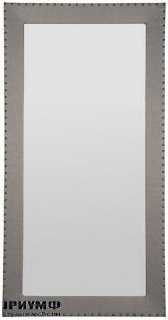 Corinthian Club Upholstered Floor Mirror