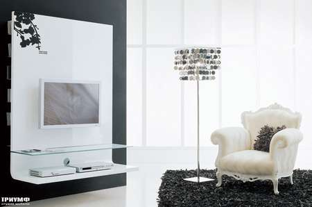 Итальянская мебель Moda by Mode - Стенка под ТВ в лаке