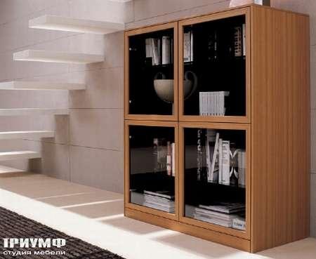 Итальянская мебель Map - Шкаф книжный со стеклом