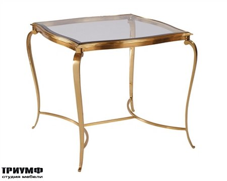 Американская мебель la Barge - Satina Finished Brass Occasional Table