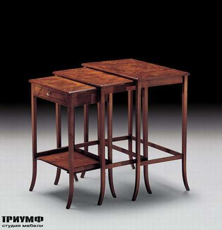 Итальянская мебель Medea - Комплект из трех складывающихся столов, арт. 707 R