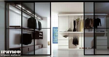 Итальянская мебель Pianca - Гардеробная Anteprima с раздвижными дверьми
