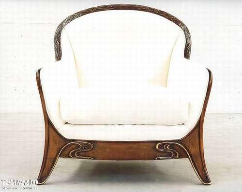 Итальянская мебель Medea - Кресло ар деко, массив дерева, ткань