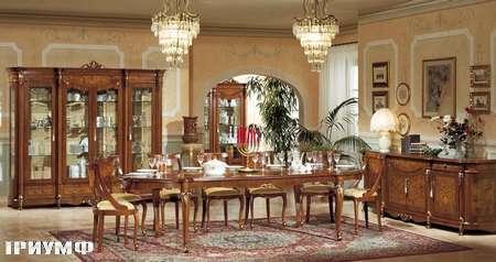 Итальянская мебель Grilli - стол прямоугольный, раздвижной, витрина