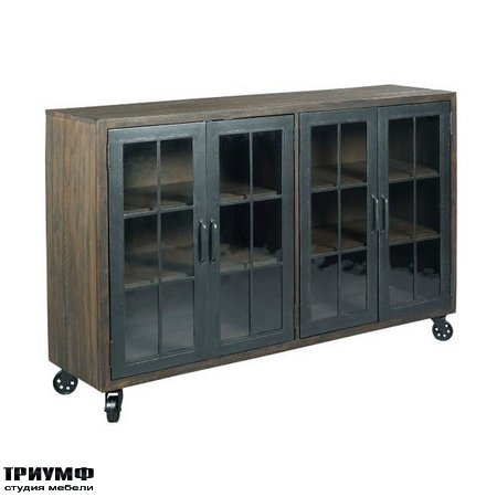 Американская мебель Hammary - Trolley Door Cabinet