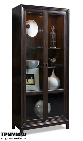 Американская мебель Hickory White - Jason Glass Door Cabinet