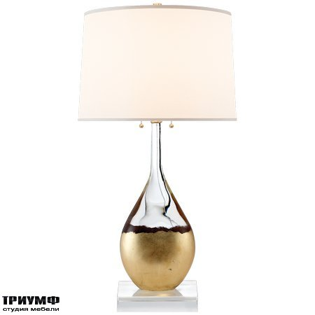 Американская мебель Visual Comfort & Co - Juliette Table Lamp in Crystal and Gild with Silk Shade