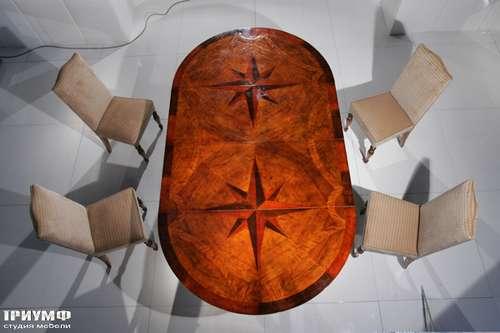 Итальянская мебель Cornelio Cappellini - Стол овальный с изящной инкрустацией