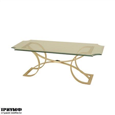Американская мебель la Barge - Silver Gilt Finished Iron Cocktail Table