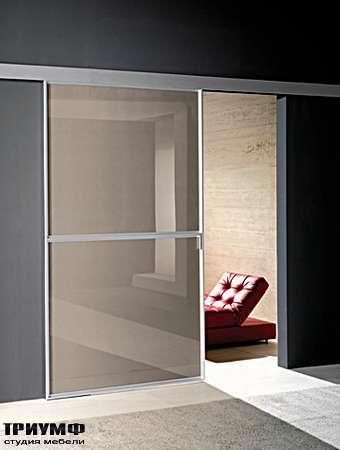 Итальянская мебель Longhi - Раздвижная перегородка Wind стекло, металлический профиль