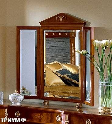 Итальянская мебель Colombo Mobili - Зеркало-трильяж в имперском стиле кол. Bellini арт.299