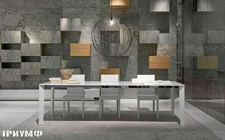 Итальянская мебель Presotto - стол Blade раздвижной 160-215-270х95 в матовом или глянцевом лаке