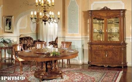 Итальянская мебель Grilli - стол круглый c вращающейся центральной вставкой, буфет
