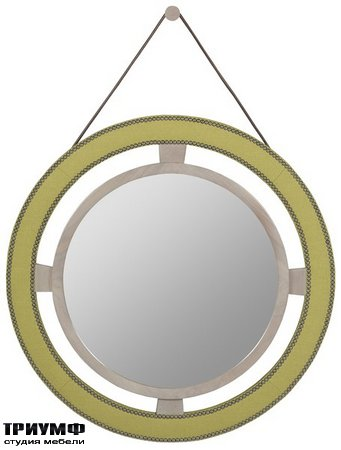 Американская мебель Vanguard - Robineau Road Upholstered Round Mirror