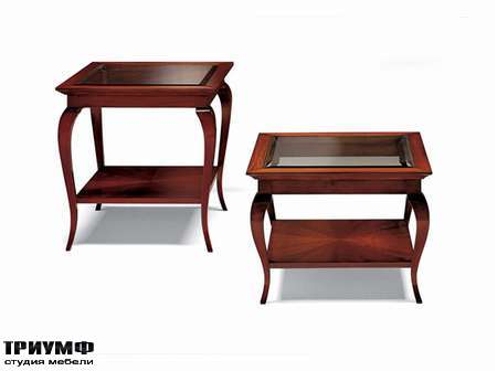 Итальянская мебель Medea - Столик квадратный с закругленными ножками из дерева