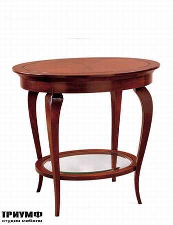 Итальянская мебель Medea - Столик круглый из массива дерева с интарсией, арт. 799