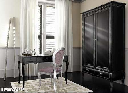 Итальянская мебель Flai - композиция в черном дереве и серебре