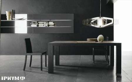 Итальянская мебель Presotto - стол Opla раздвижной в сером дубе