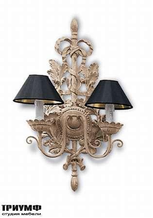 Итальянская мебель Chelini - Бра деревянное с тряпичными плафонами арт.558