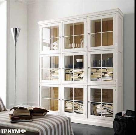 Итальянская мебель Flai - стеллаж classic со стеклянными дверцами