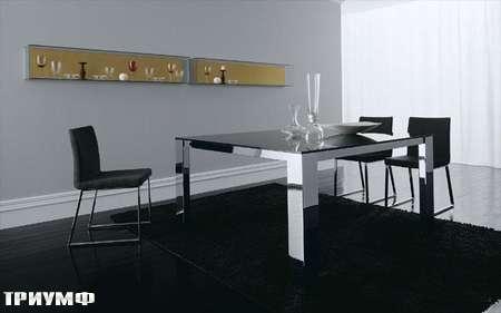 Итальянская мебель Presotto - стол Star в глянцевом лаке и хроме