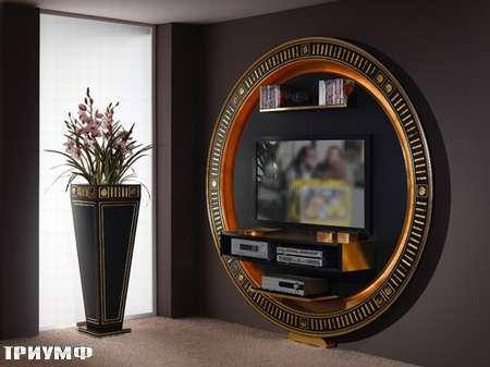 Итальянская мебель Vismara - стенка gold silver